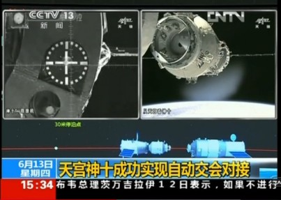 Shenzhou 10 docking