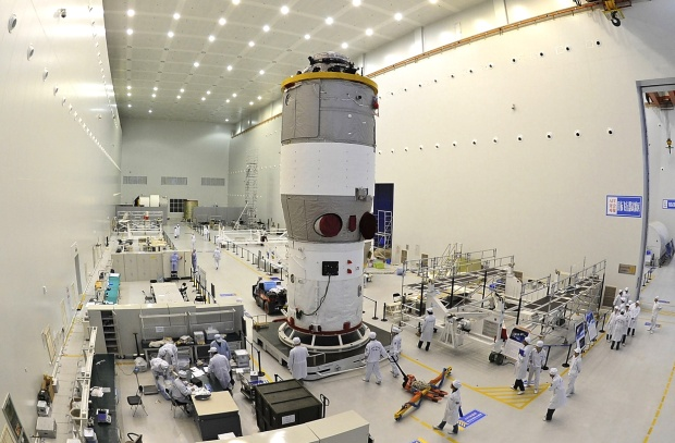 Tiangong 2 in assembly