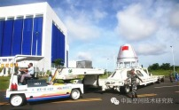 Subscale re-entry capsule in transit to the vehicle assembly building (Credit: CAST)