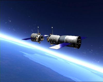 Shenzhou orbital module docking concept